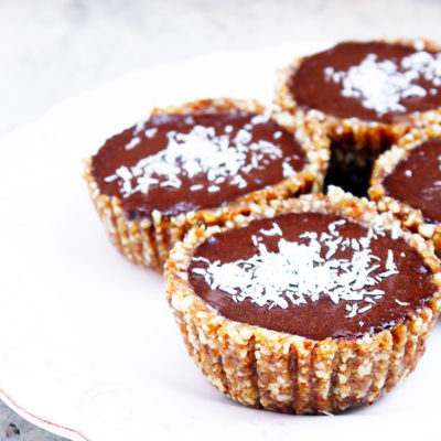 Raw Chocolate Coconut Tartlets