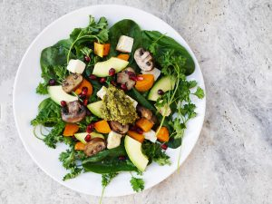 "Winter Vegetarian Salad and ""Ask Mia"" Series"