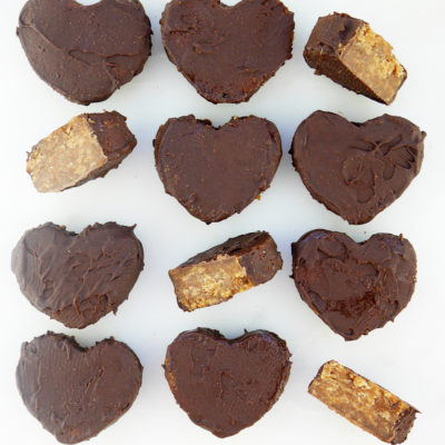 Chocolate Covered Snickerdoodle Hearts