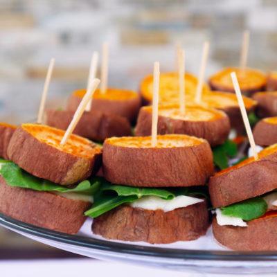 Sweet Potato Goat Cheese Bites