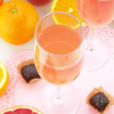Sparkling Ruby Rose Cocktail