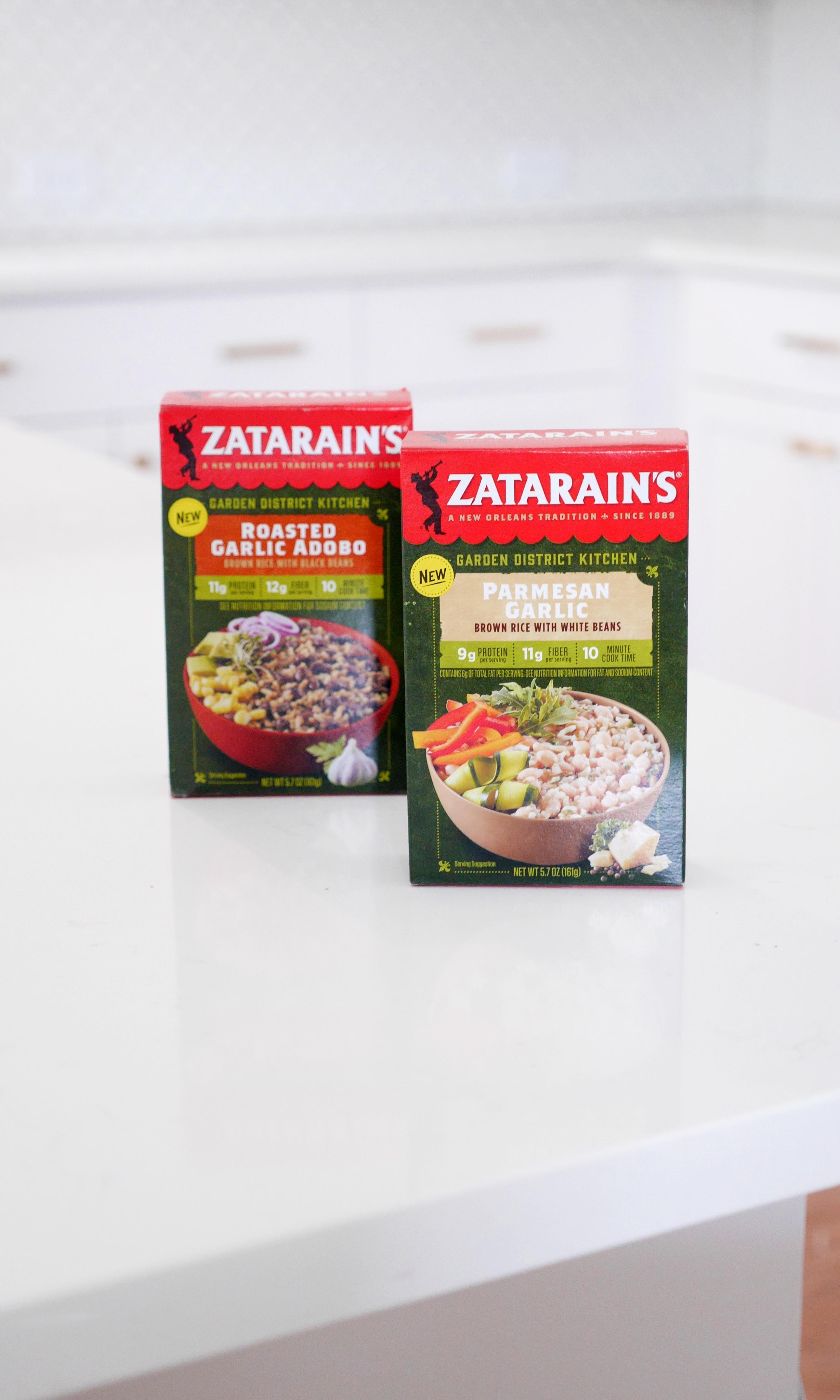Zatarain's Parmesan Garlic Brown Rice with White Beans