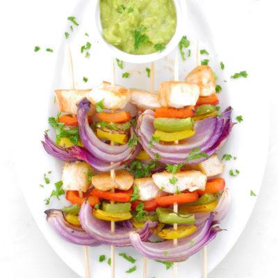 Veggie Chicken Kebabs
