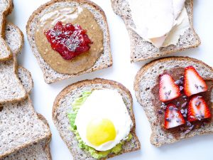 Sprouted Open-Faced Sandwiches
