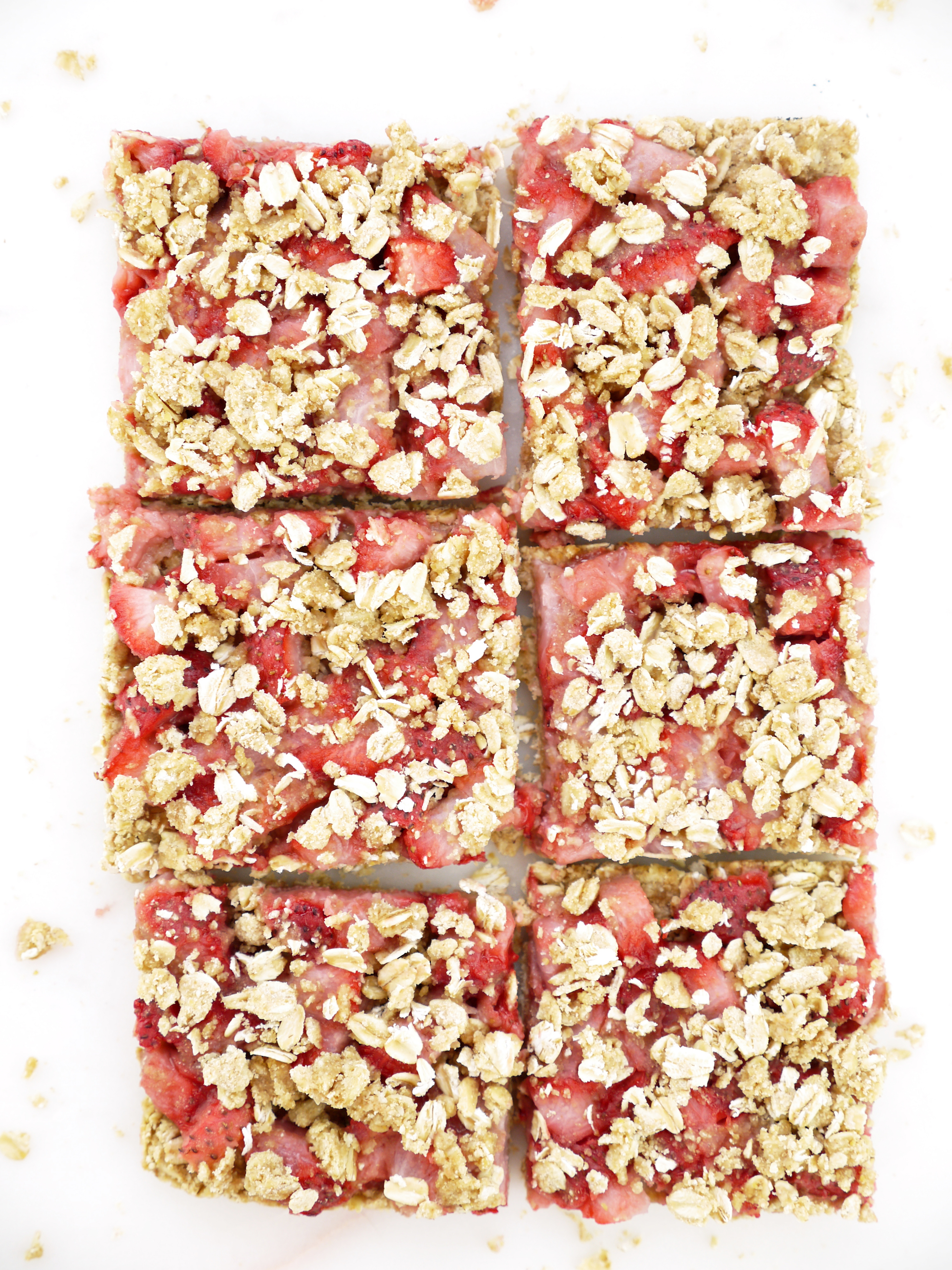 Strawberry Crumble Oat Squares