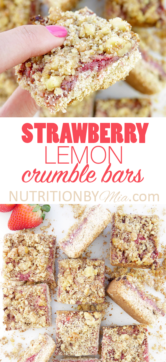 Strawberry Lemon Crumble Bars