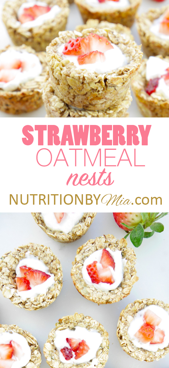 Strawberry Oatmeals Nests