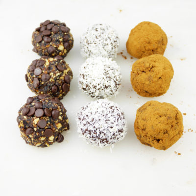 Prune Energy Bites 3 Ways