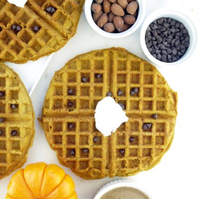 Pumpkin Almond Butter Waffles