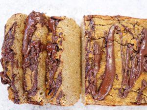 Dark Chocolate Swirl Banana Loaf