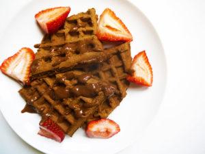 Double Chocolate Strawberry Waffles