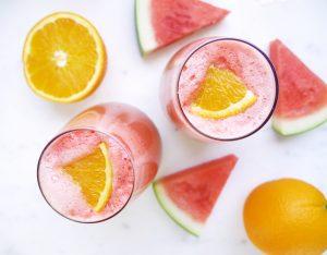 Sparkling Watermelon Mimosas
