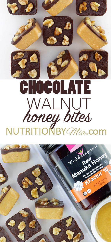 Wedderspoon Manuka Honey Chocolate Walnut Honey Bites