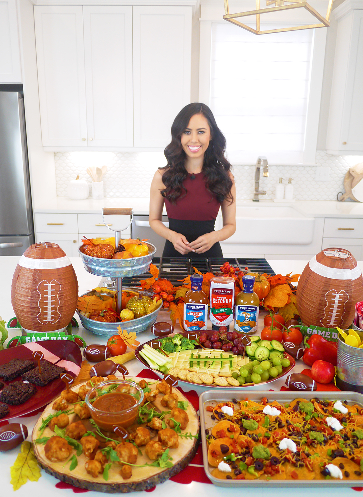 homegating, healthy  tailgating, morning break, cbs wtoc-tv, True Made Foods vegetable-sweetened condiments, Celebrity Leading Media TV Registered Dietitian Nutritionist Mia Syn