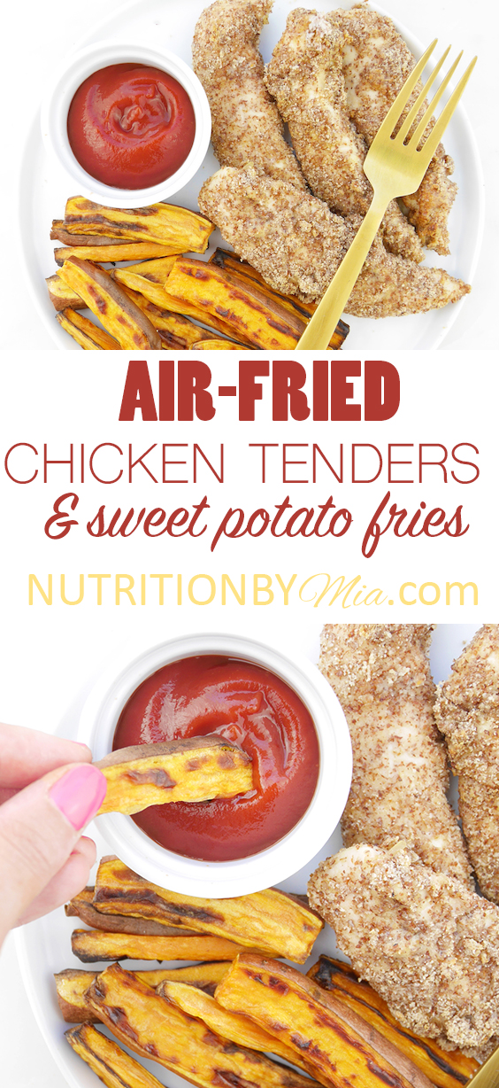 Air Fried Chicken Tenders And Sweet Potato Fries
