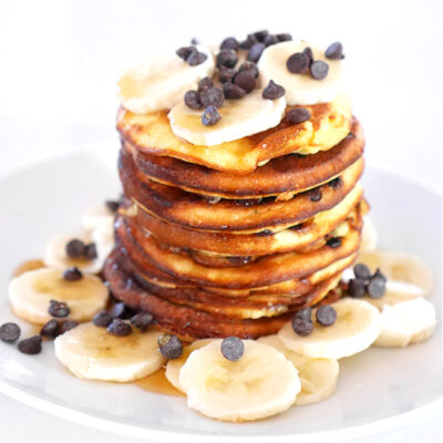3-Ingredient Chocolate Chip Pancakes
