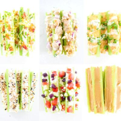 Stuffed Celery 6 Ways
