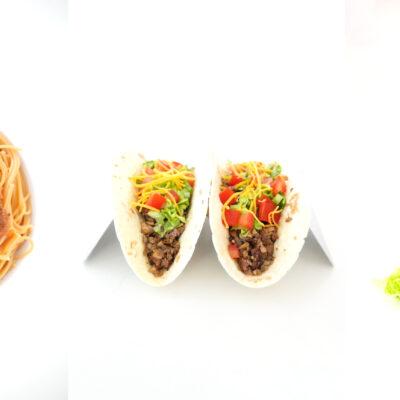 Blended Vitamin D Mushroom Burgers, Tacos and Spaghetti
