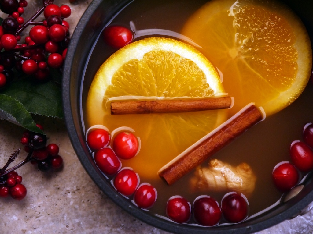 Spiced Apple Cider with Orange Zest