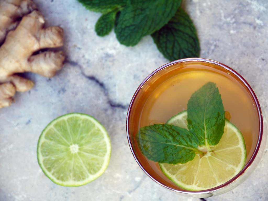 Ginger-Lime Kombucha Cocktail
