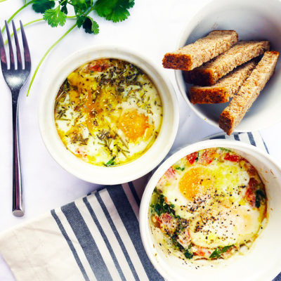 Cilantro and Thyme Baked Eggs