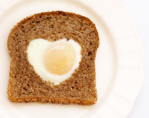 Valentine's Brunch Eggs and Toast
