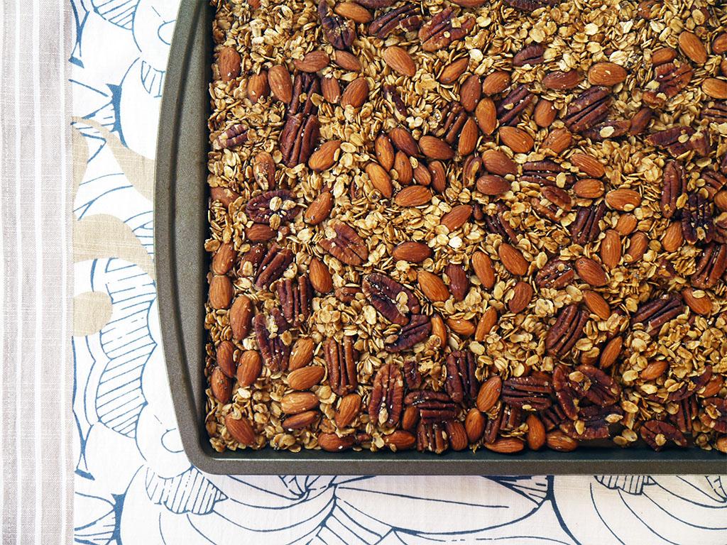 Coconut Oil Almond and Pecan Granola