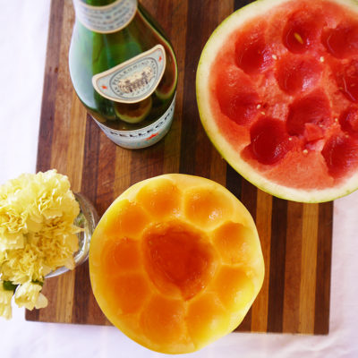 Poolside Hydration: Sparkling Melon Water