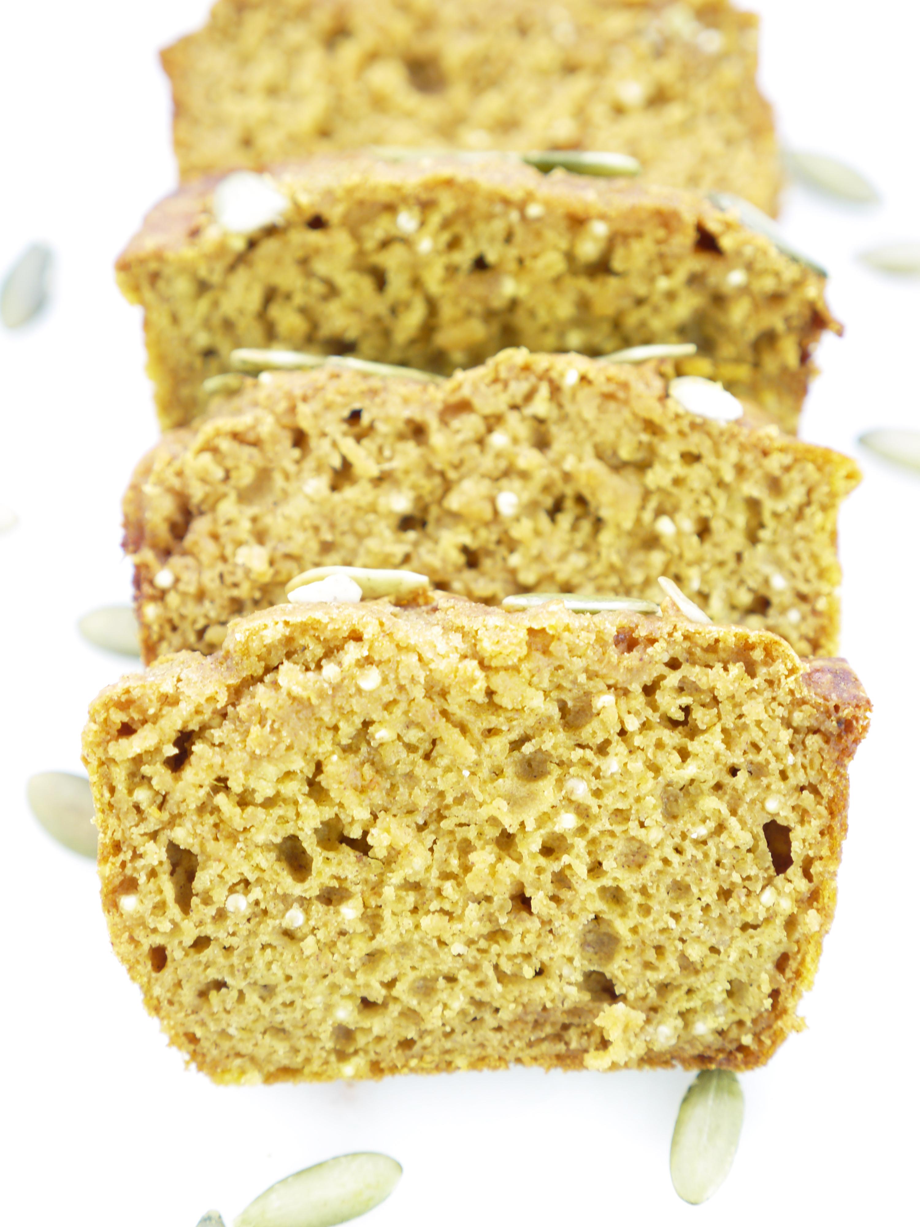 Mini Pumpkin Quinoa Loaf