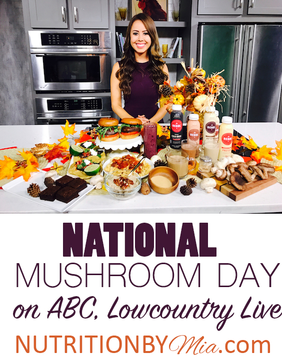 ABC Lowcountry Live National Mushroom Day REBBL