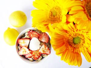 Spring Strawberry Lemon Oatmeal