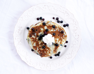 Blueberry and Lemon Ricotta Pancakes