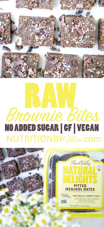 Raw No Added Sugar Brownie Bites Natural Delights Medjool Dates