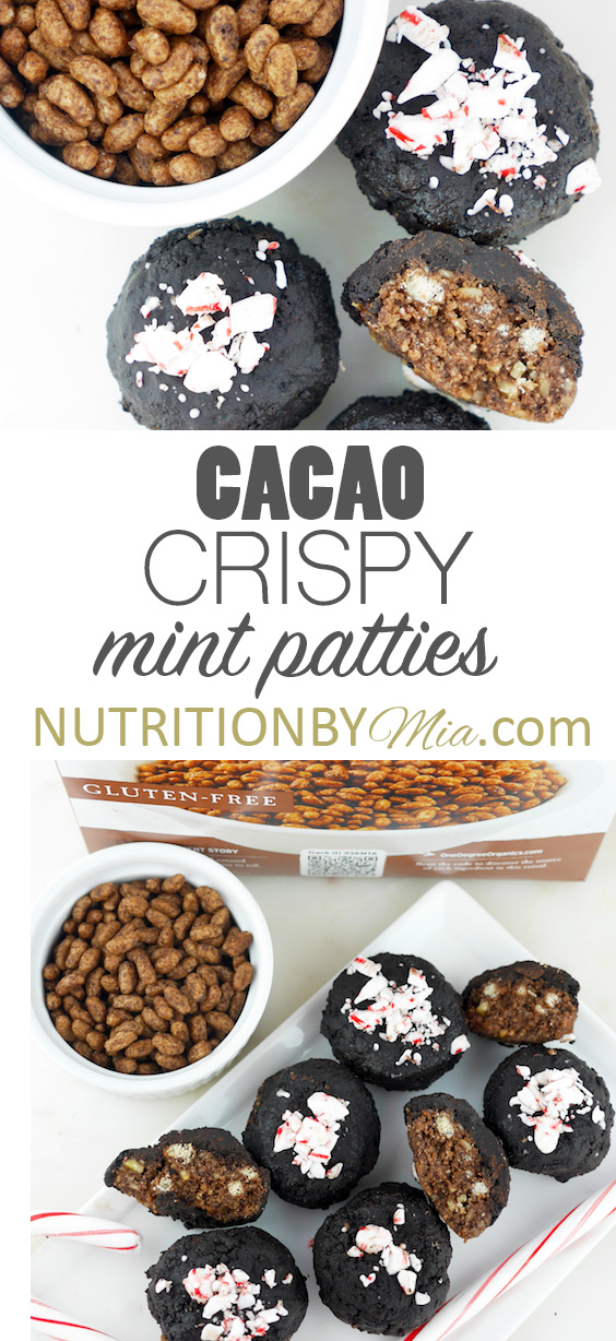 Sprouted Brown Rice Cacao Crispy Mint Patties One Degree Organic Foods