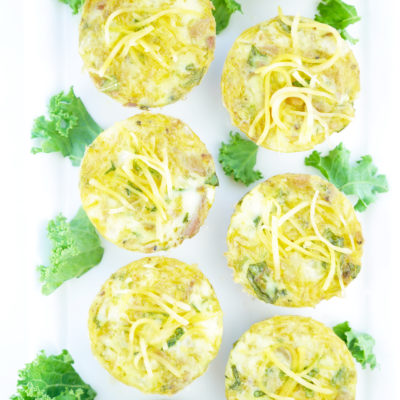 Cheesy Tuna Kale Cups