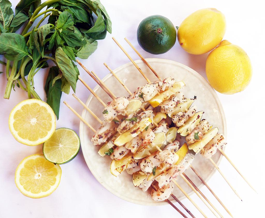 Lemon-lime Grilled Shrimp Skewers