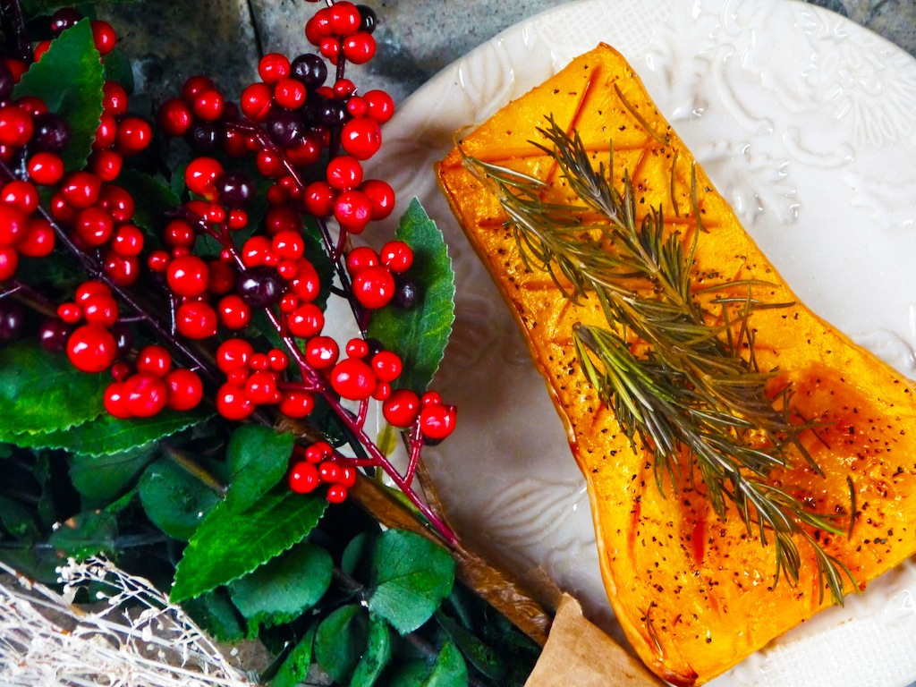 Simple Roasted Butternut Squash with Rosemary