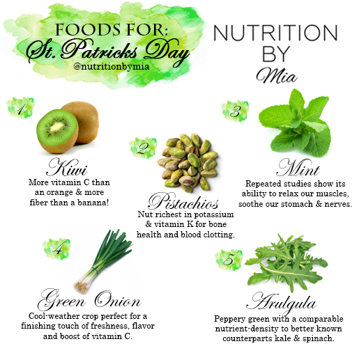 Foods For: St. Patrick's Day
