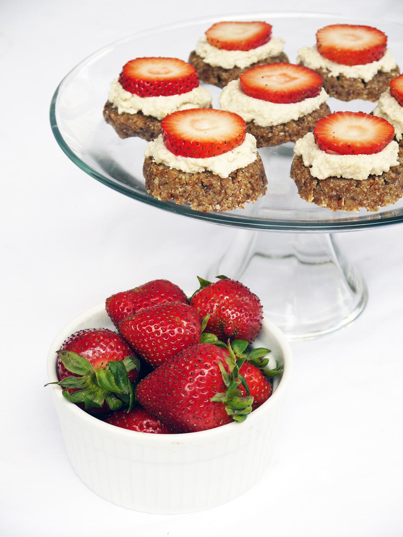 Raw Strawberry Tartlets