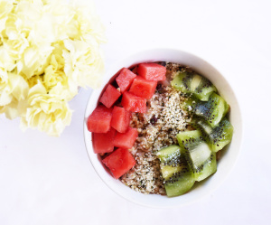 Watermelon and Kiwi Oats