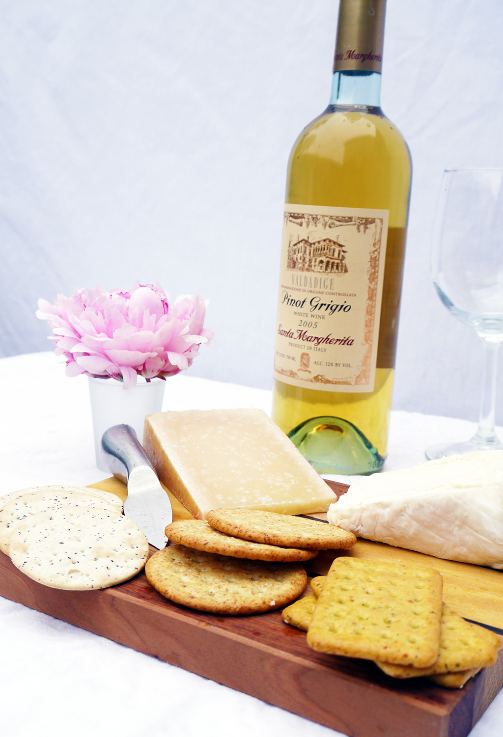 Early Summer Wine and Cheese Platter